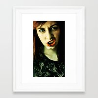 rooster teeth Framed Art Prints featuring Teeth by Lídia Vives