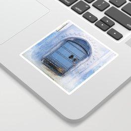 Blue Door / Porte originale/ Chefchaouen / by WHITEECO Ecologic design Sticker