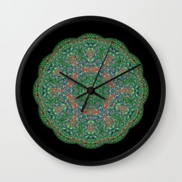Emerald Mandala Wall Clock