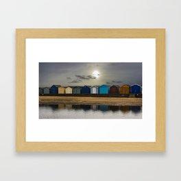 Brightlingsea Beach Huts UK Framed Art Print