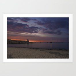 Front Beach After sunset Art Print