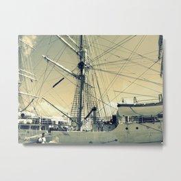 Maritime Spiderweb Metal Print