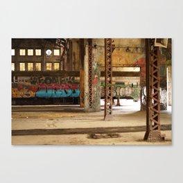 Graffiti Stockyard Train Car Canvas Print