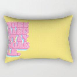 Work Hard Stay Humble Rectangular Pillow