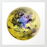 Golden Earth  Art Print