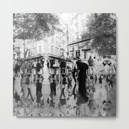 Summer space, smelting selves, simmer shimmers. 20, grayscale version Metal Print