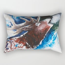 Deer - Valentine - animal by LiliFlore Rectangular Pillow