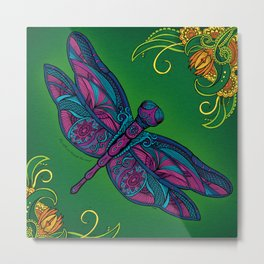 Dragonfly. Fly with me through the wind. Metal Print