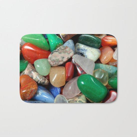 Colorful Stones Texture Bath Mat