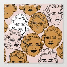 1950s in Pink & Gold Canvas Print