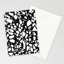 Terrazzo Spot 2 Black Stationery Cards