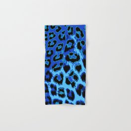 Blue Leopard Spots Hand & Bath Towel