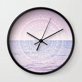 Blissful Ocean Dream Mandala #1 #pastel #wall #decor #art #society6 Wall Clock