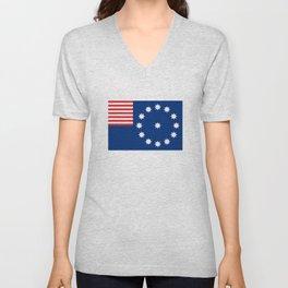 Easton city flag united states of america Pennsylvania Unisex V-Neck