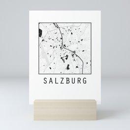 Salzburg, Austria, city map Mini Art Print