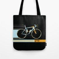 bike Tote Bags featuring Bike by Wyatt Design