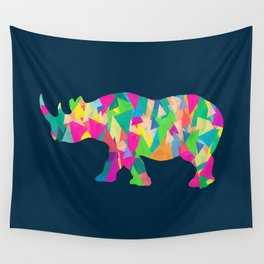 Abstract Rhino Wall Tapestry
