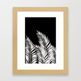 Palm Leaves White Framed Art Print