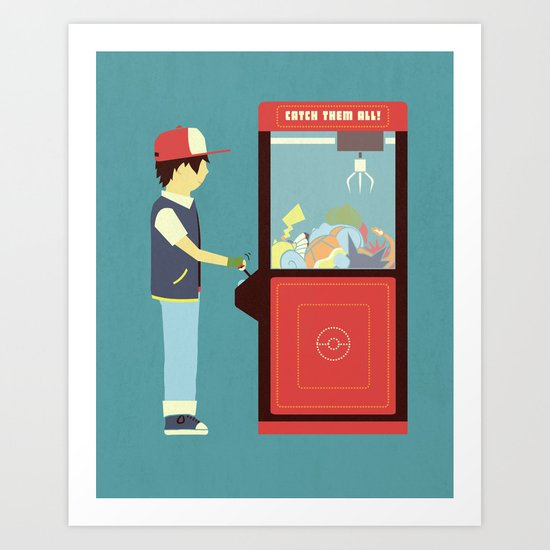 Claw Machine Art Print