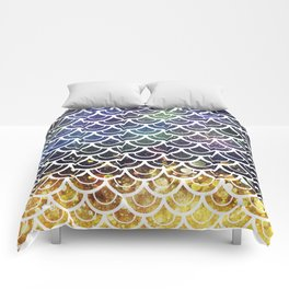 Mermaid Scales Deep Sea Sparkle Comforters