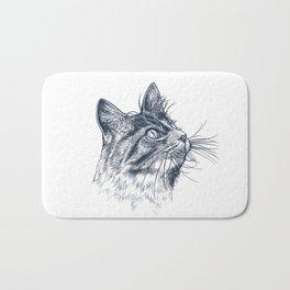 Cat Portrait Bath Mat