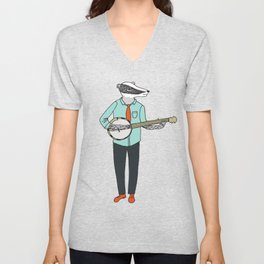 Banjo Badger Unisex V-Neck