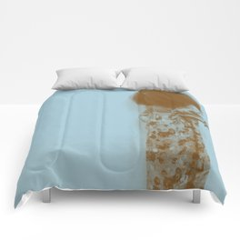 Afro Retro Moments Pale Aqua Comforters