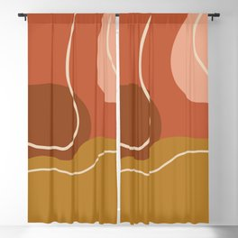 Abstract Organic Shapes in Zen Desert Color  Blackout Curtain