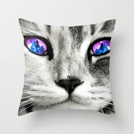 Galaxy Cat Throw Pillow