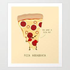 Pizza Arrabbiata / Angry Pizza Art Print
