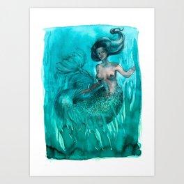 The Mermaid - Deep Sea Art Print