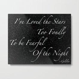 Stars Quote Metal Print
