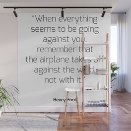 Airplane takes off against the wind | Henry Ford Wall Mural