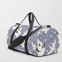 Origami Crane Metamorphosis (Blue) Duffle Bag