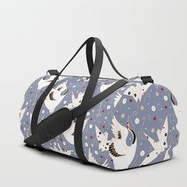 Origami Crane Metamorphosis (Blue) Duffle Bag