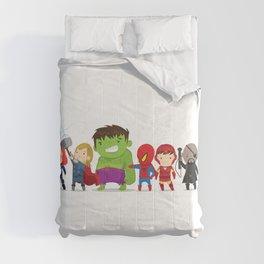 Super Hero Illustration Comforters