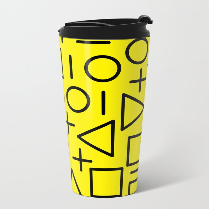 Memphis pattern 71 Metal Travel Mug