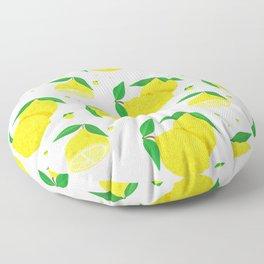 Big Lemon pattern Floor Pillow