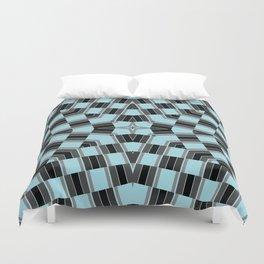 Black and blue geometric pattern Duvet Cover