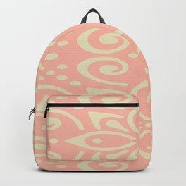 White On Pink Boho Design Backpack