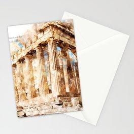 Acropolis, Athens, Aquarell Stationery Cards