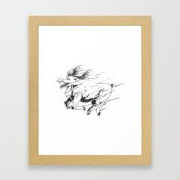 Caribou minute Framed Art Print