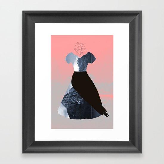 Filled with line Framed Art Print