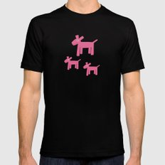 Dogs-Pink Black MEDIUM Mens Fitted Tee