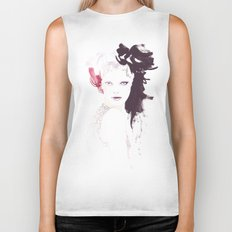 Fashion illustration in watercolors Biker Tank