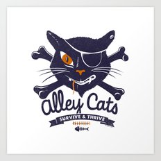 Alley Cats Art Print