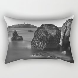 Godrevy Lighthouse, Cornwall, England, United Kingdom Rectangular Pillow