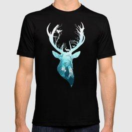 Deer Blue Winter T-shirt