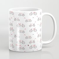 bikes Mugs featuring bikes by Marcelo Badari