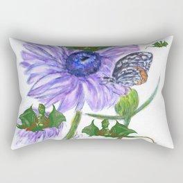 Buterflies And Strange Dragon Flies Rectangular Pillow